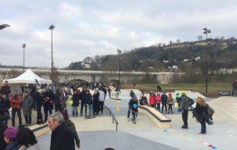 Inauguration du Skate Park d'Agen - 25 janvier 2017