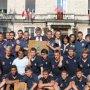 Réception des équipes du SUA Rugby à la Mairie