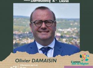 Olivier Damaisin, candidat sur la liste l'Union fait la Région en Lot-et-Garonne